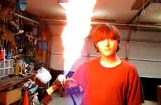 Wrist-Worn Flamethrowers - DIYer Turns Himself into a Real-Life Human Torch