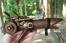 Steampunk Shark Guns - 'My Ray Gun II' is Made from Common Household Materials