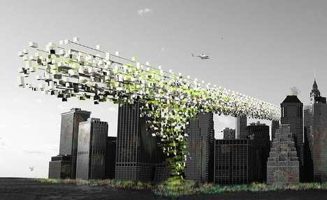 Sky-High Pixelated Cities