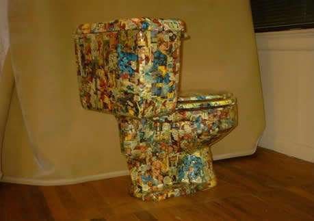 Comic-Covered Toilets