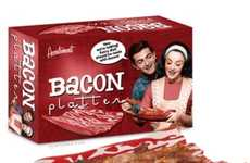 Porky Serving Platters - The Bacon Platter is the Best Way to Serve Breakfast