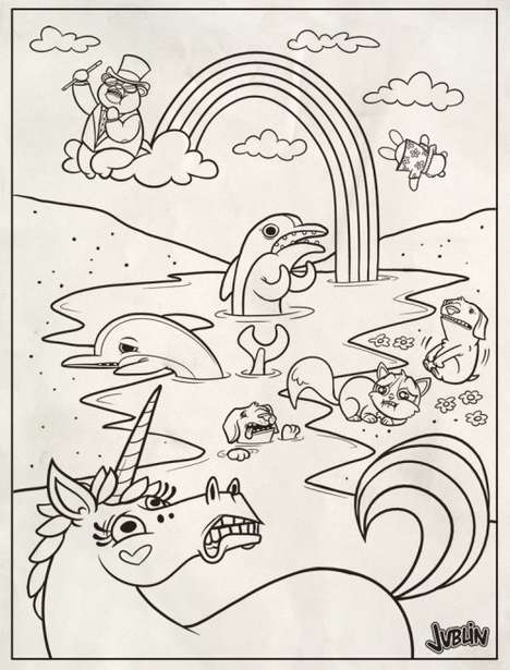 Activist Coloring Books - Artist Justin White's Lighthearted Depiction of the BP Oil Spill