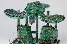 Aquatic Circuit Board Art (UPDATE) - Steven Rodrig Turns Old PCBs into Amazing Sculptures