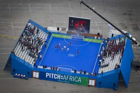 Soccer Field Rain Harvesting - PITCH: AFRICA Captures and Cleans Water for Communities