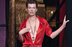 Body-Bearing Jumpsuits - The Ageless Milla Jovovich for the Escada Fall Campaign