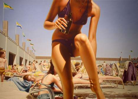 Beach Babe Paintings