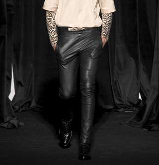 Masculine Leather Pants