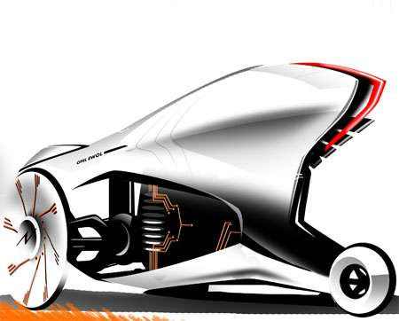 The 'Opel Ewol' is Designed to Run on Solar & Kinetic Energy