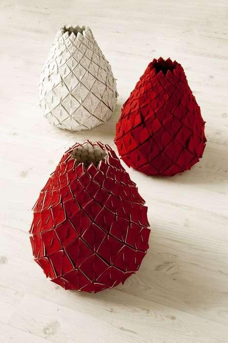 Textured Pear Pots