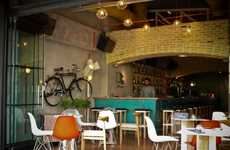 Bikes as Wall Art - The Cello Bar by Lime Studio Integrates Instruments & Bicycles Into Its Decor