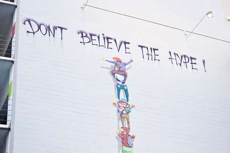 Stacked Hipster Graffiti - Artists Os Gemeos Create 'Don't Believe the Hype'