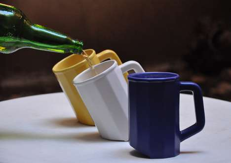 Tipped Beer Steins