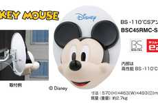 Disney Satellite Dishes - The Mickey Dish Puts a Cute Face on Cumbersome Satellite Dishes