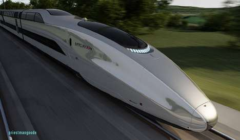 Sleek Speed Trains - The Priestmangoode 'Mercury' Train Tops Off at 225 MPH