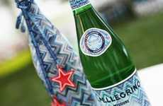 Designer Bottled Water - Missoni and San Pellegrino Make a Playfully-Patterend Bottle Label