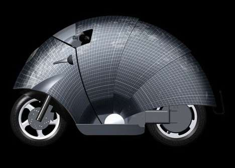 The SunRed Solar Moped Features a Retractable Photovoltaic Roof