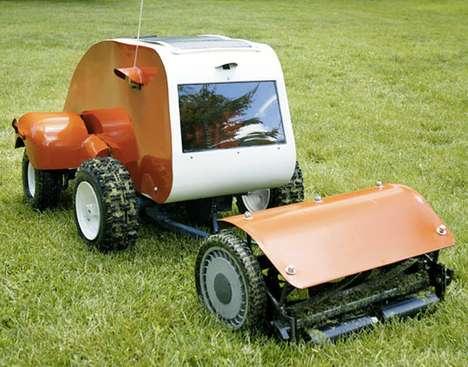 Solar-Powered Lawn Mowers