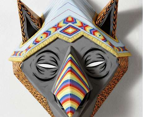Trent Whitehead Designs Colorful, Enticing Wooden Masks