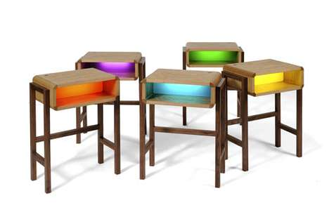 Vibrantly Glowing Desks