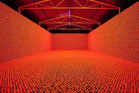 Glowing Digital Rooms