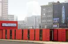 Shipping Container Offices - This Ultra-Industrial Sales Office is True to its Material