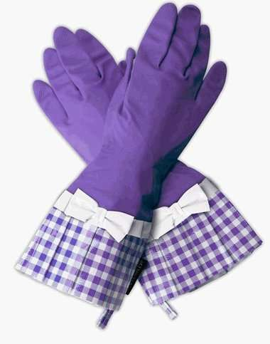 Glam Rubber Gloves - Gloveables Add Class to Kitchen Cleaning