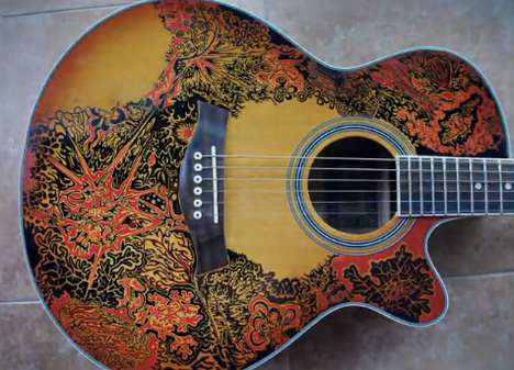 Time-Lapse Guitar Artwork - Artist Brady Uses Markers to Create a Musical Masterpiece