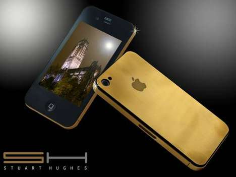 $33,622 iPhones - This 24K Solid Gold iPhone 4 Gives a Midas Touch to Tech