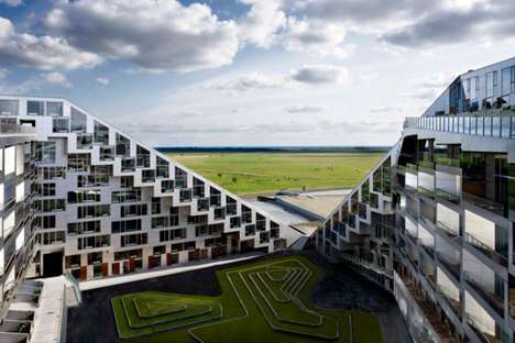 Green-Roofed Apartments