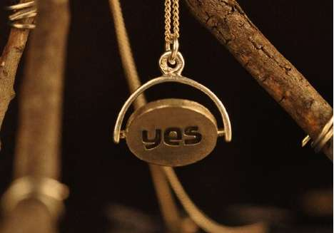 Indecision Jewelry - The Oracle Necklace Will Answer Your Questions With a Yes or No