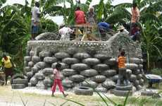 Earthquake-Resistant Tire Homes - The Michael Reynolds Earthship Biotecture for Haiti