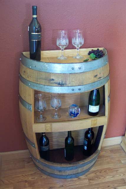 Wine Barrel Furniture - Sterling Wine Online Reuses Retired Casks From the Napa Valley Winery