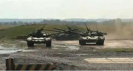 Tank Ballet - The Russian Arms Expo Presents Choreographed Tank Dancing