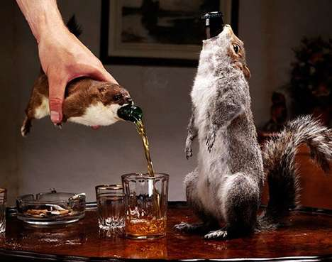 Taxidermy Beer Bottles
