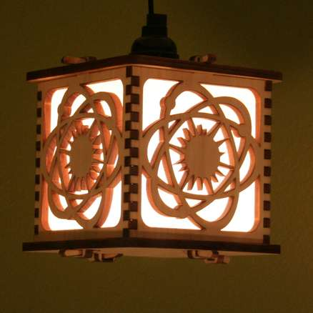 Laser Cut Lanterns - Boxy Wooden Lighting by Curious Customs is Versatile