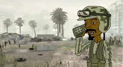 Hip-Hop Gamer Fusion - Animated Snoop Dogg Avatar Infiltrates War Video Games
