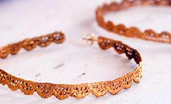 Lace-Like Gold Earrings
