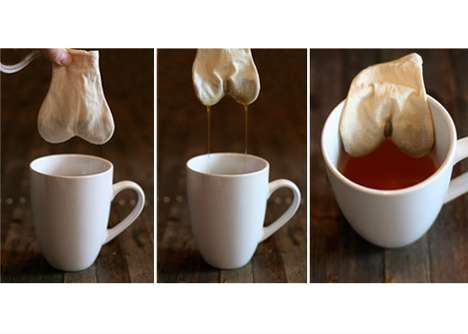 Naughty Euphemism Tea - Reusable Teabagging Tea Bags in the Shape of Genitals
