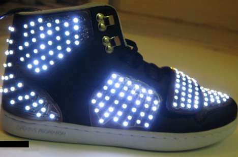 Rave-Ready Footwear - LED Shoes Use Panels to Turn High-Tops & Stilettos Into Trippy Accessories