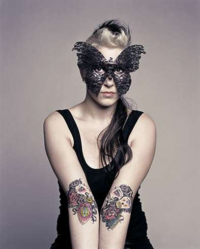 Butterfly Masks & Tattoos