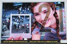 Photographing Billboards - The Forever 21 Times Square Billboard Takes Snaps of Passersby