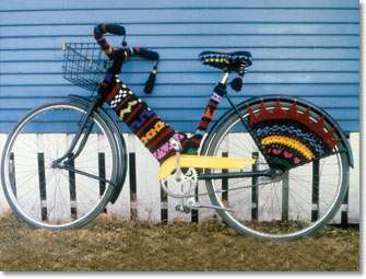 Crocheted Bicycle Covers - Freshen Up Your Ride with These Cozy Bike Sweaters