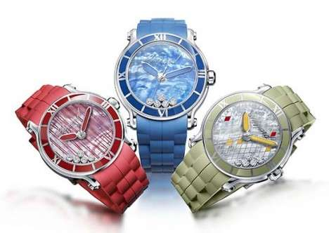 The Chopard Happy Sport XL has a Splash of Color