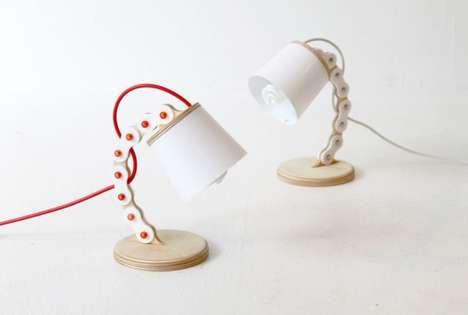 Bike Chain-Inspired Lamps