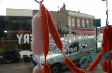 Crochet Butcher Shops - The Wool Butchery by Clemence Joly has Warm Knitted Meats