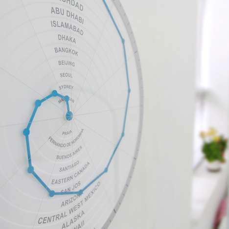 The Bent Hands Clock Will Tell You the Time In Different Cities