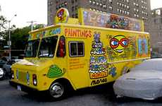 Mobile Art Galleries - Luz Azul Converts a Food Truck to Bring His Pop Art to the Open Road
