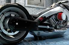 Hybrid Chopper Motorcycles - Jean Baptiste Robilliard's Custombike Concept is for Eco-Friendly Rides