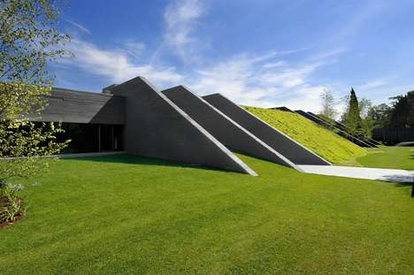 Underground Homes - The Triangular Concrete House 2 by A-cero Architects is Hidden
