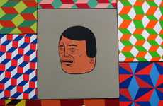 Prismatic Spray Pieces - Barry McGee's Artwork is Full of Color and Character